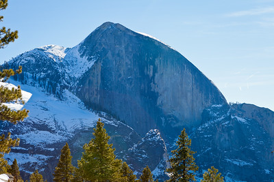 Morning view of Half Dome.