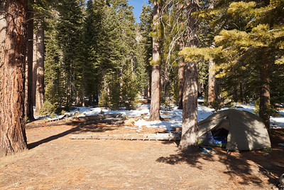 Base camp at Snow Creek, Yosemite.