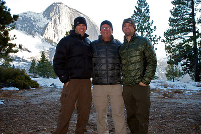The Motion Photography Team with Half Dome in the background.