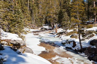 View of Snow Creek.  Getting water was a little precarious since you had to go out on the ice to get to the water.