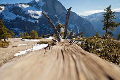 Partial view of Half Dome.
