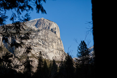One of the beautiful rock formations, just below Basket Dome in Yosemite.