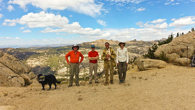 We petitioned a passing hiker to take this group shot.
