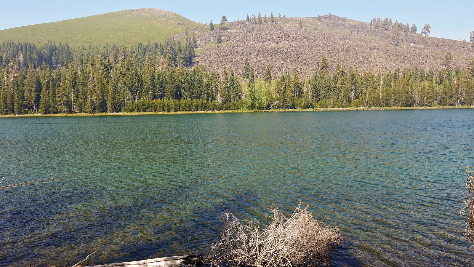 Beautiful Lake Eiler, with Eiler Cone in the distance.