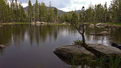 By the time we got to Granite Lake, it was already beginning to drizzle.
