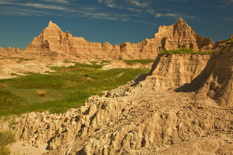 Badlands, Cedar Pass Lodge area, Badlands National Park, SD