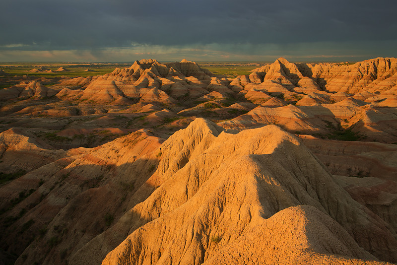 Sunrise, White River Overlook, Badlands National Park, SD