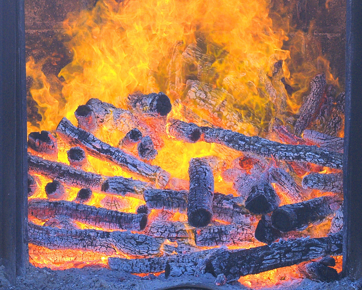 OLYMPUS DIGITAL CAMERA--Firebox at Cooper's Pit BBQ in Llano, Tx.
