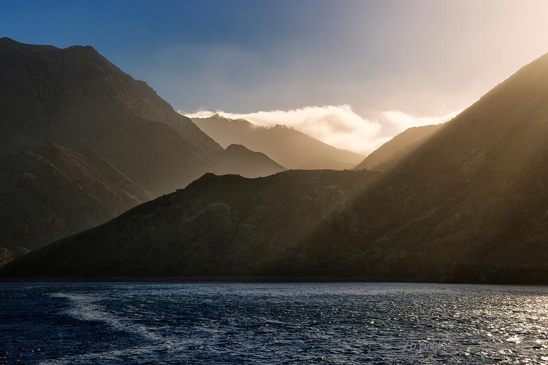 Near sundown, departure from Isla Cedros