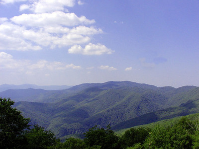 Mile  High Overlook Balsam Mtn Road  GSMNP NC  6/17/07