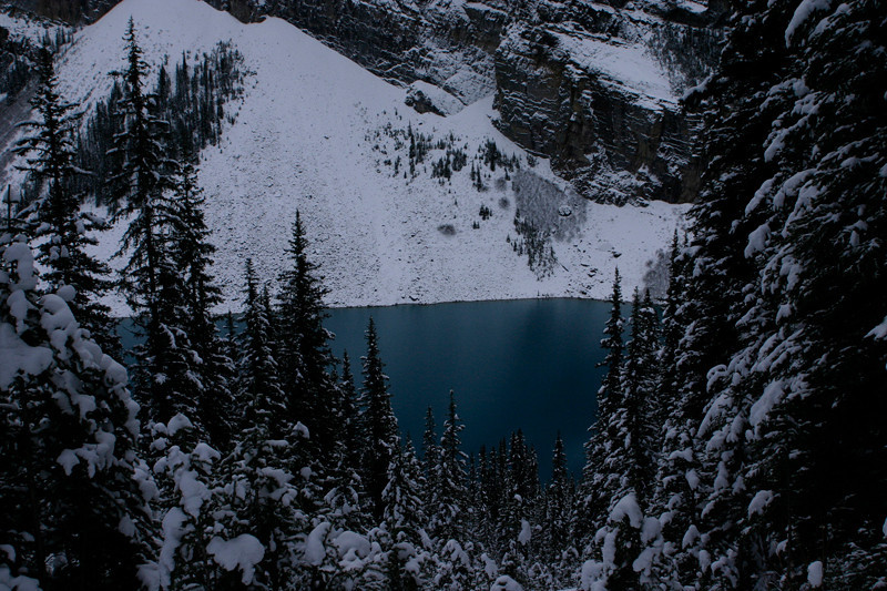 Lake Louise on the way down
