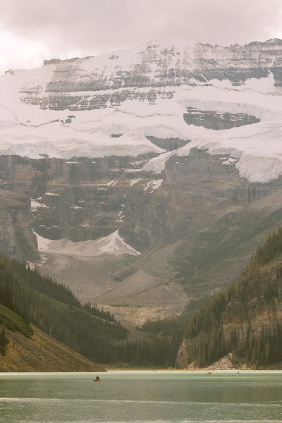 Lake Louise, with the Victoria Glacier in the background.