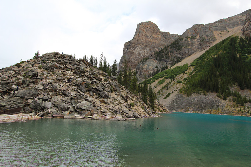 Moraine Lake (near Lake Louise) was actually my favorite.  Climbing up this rock pile was a hoot!