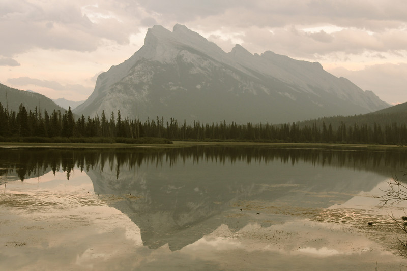 Mount Rundle reflected in Vermillion Lake #1.