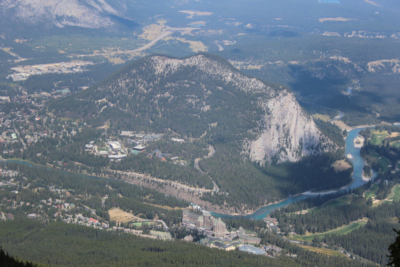 Banff from on high.
