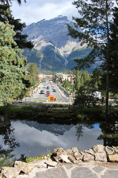 The classic shot of downtown Banff.