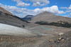 Following the Athabasca Glacier up from the Icefield Center.