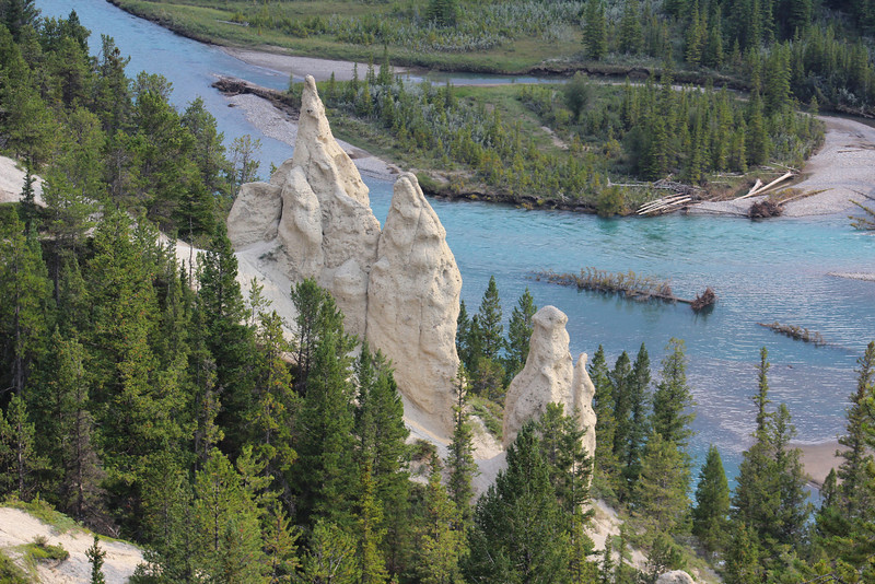 A stop to visit the hoodoos.  Hoodoos are mineral deposits and rock that have been formed over time, and can be found in lots of different places around the world (especially the Southwestern U.S.).