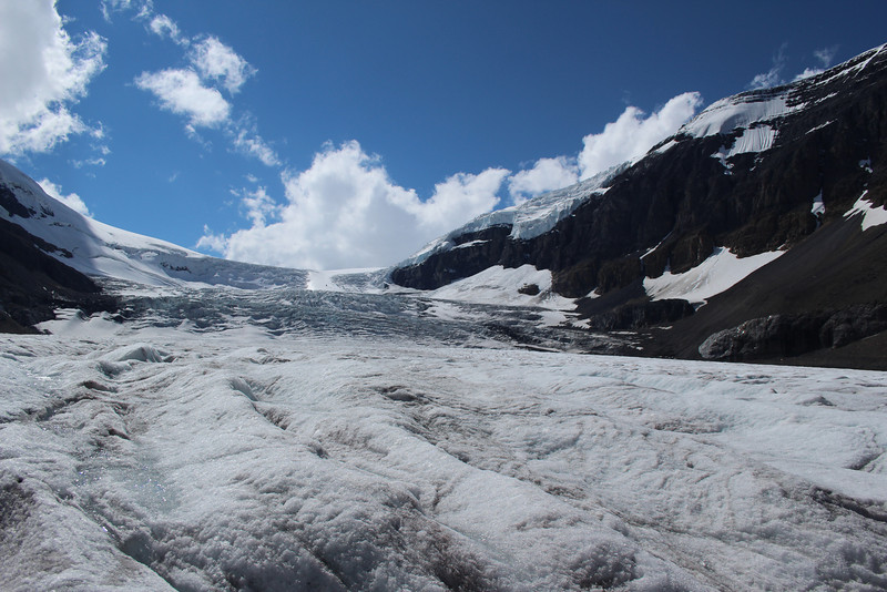 At this point, the Athabasca Glacier is thicker than the Eiffel Tower is tall.  Yowza.