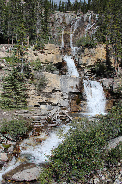 Interesting falls near the Columbia Icefield.