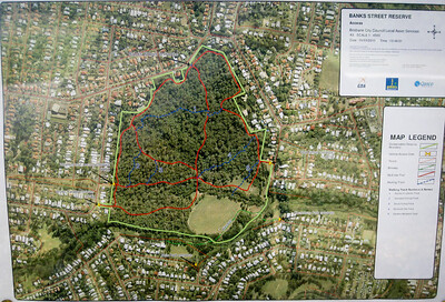 Southern End - Map - Banks Street Reserve - Signs, Plants & Flowers. (Point & Shoot Camera); Newmarket, Brisbane, Queensland, Australia; 24 September 2012. Photos by Des Thureson - http://disci.smugmug.com.