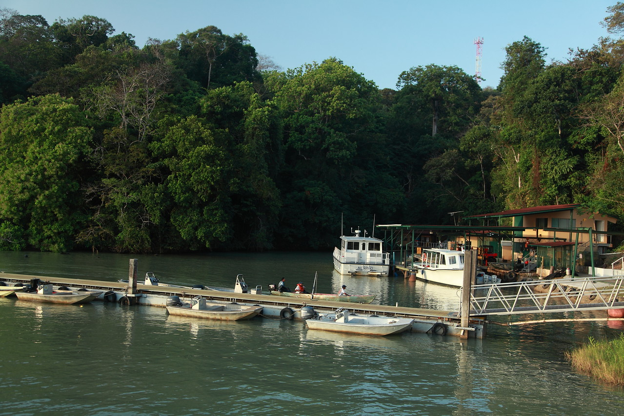 Boat dock at the Smithsonian Tropical Research Institute, Barro Colorado Island, Panama.