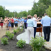 A large crowd gathered for the celebration of the successful removal of the Bartlett Pond Dam, on the Wekepeke Brook in Lancaster on Tuesday afternoon. <br /> SENTINEL & ENTERPRISE / Ashley Green
