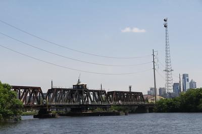 railroad bridge spanning the Schuylkill River
