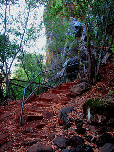 red clay stairs