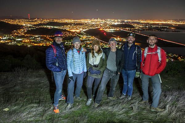 San Bruno Mtn Sunset/Full Moon: Dec 3, 2017