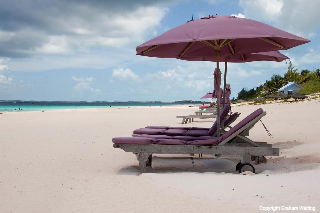 Pink sands at Coral beach, Harbor Island, Bahamas