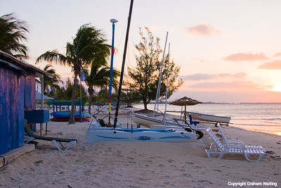 Early morning on Grand Bahama beach