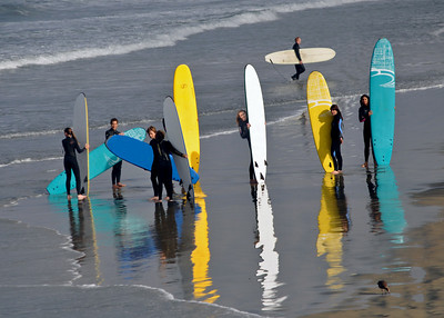 Long Board Surfing Class - Newport Beach, CA