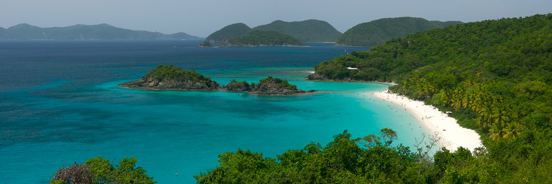 Trunk Bay Panorama, St John, USVI