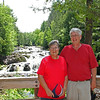 Two wonderful guests at Copper Falls Park.  A couple from Eagan took the photo.  The turned out to be from Audubon and had led the campaign to stop the killing of 20 Pairs of Bald Eagles where a wind farm was going to locate.
