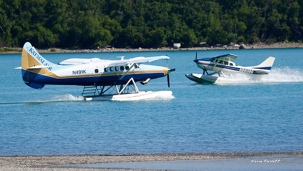 the float planes, just 2 of thousands that help folks get around Alaska