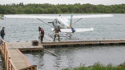 Our float plane from King Salmon to Brooks Lodge