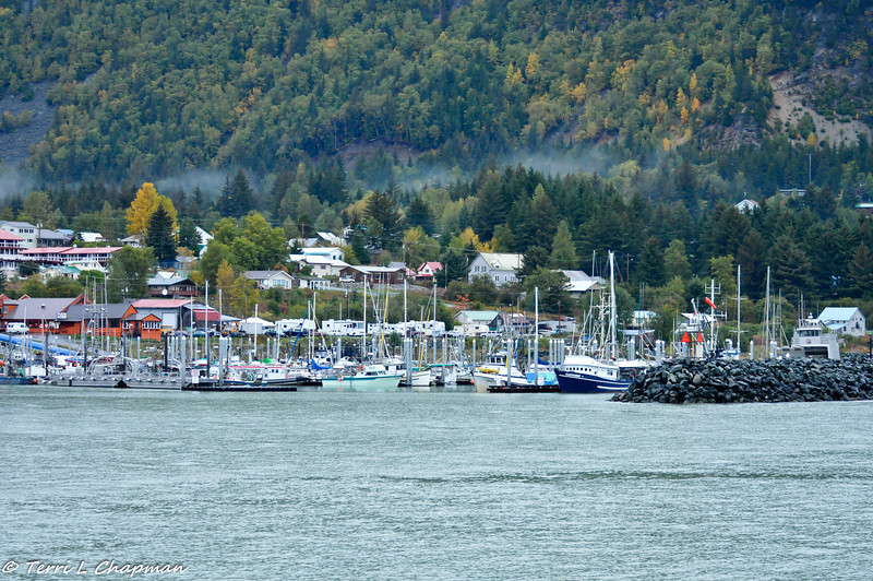 A view from the dock in Haines, Alaska.