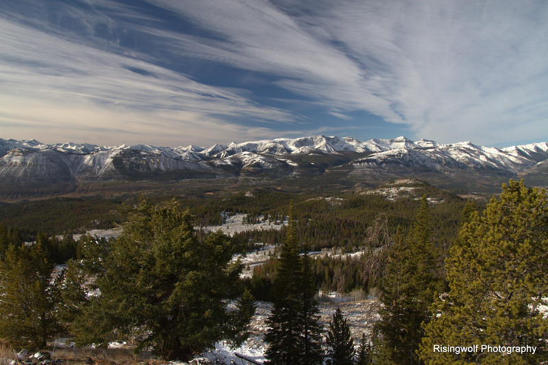 Looking into the Absaroka Wilderness from the Beartooth HWY