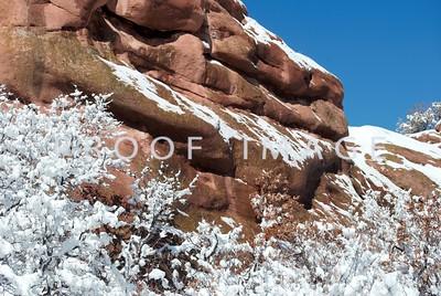 Spring snow - Deer Creek Canyon