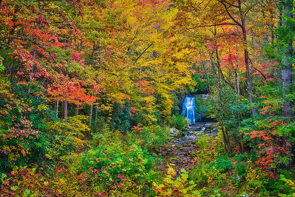 Meigs Falls in Autumn in the Great Smoky Mountains National Park