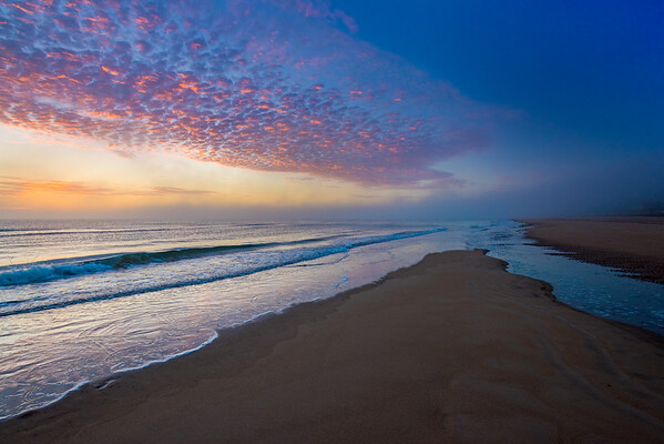 July 4th Sunrise at Omaha Beach in Normandy France