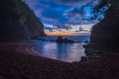 Sunrise at Secluded Beach near Hana, Maui