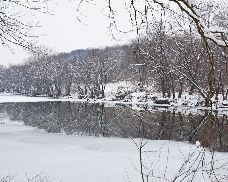 Snow Covered River