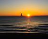 Sunrise and gull at Virginia Beach Virginia