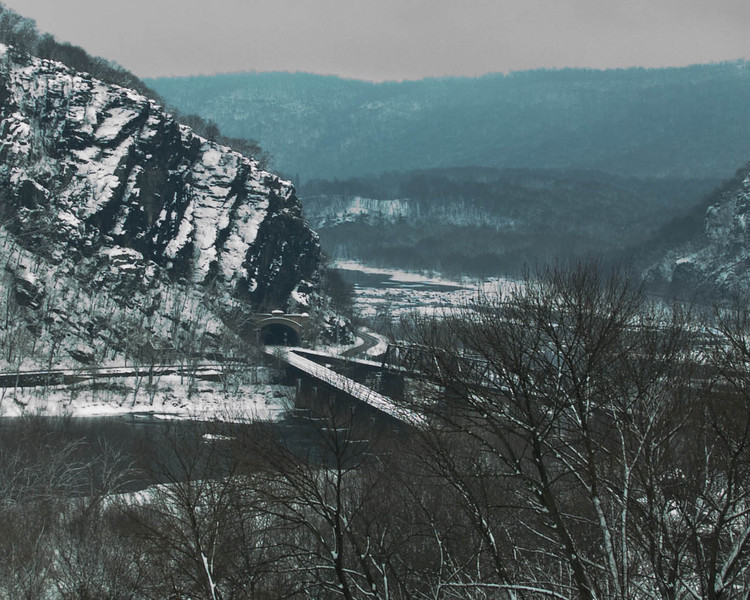 Snow covered train tunnel, Harpers Ferry, WV