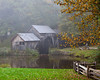 Fog sets in at Mabry's Mill