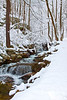 Snowy Stream in Virginia