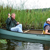 John Askildsen paddling stern  - Bedford Audubon canoe trip to Constitution Marsh, Garrision, NY National Audubon Center
