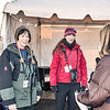 Executive Director Janelle Robbins and volunteer at BAS Eagle Viewing Station on New Croton Dam -Teatown Eagle Fest, February 10, 2013
